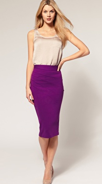 Pencil skirts from asos the junoesque for What color shirt goes with a purple skirt
