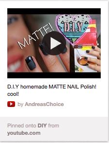 diy matte nails
