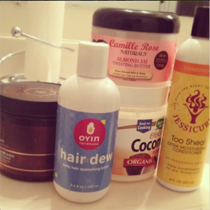 My wash day products