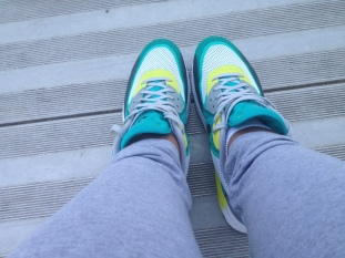 Taking a rest and admiring my shoes lol