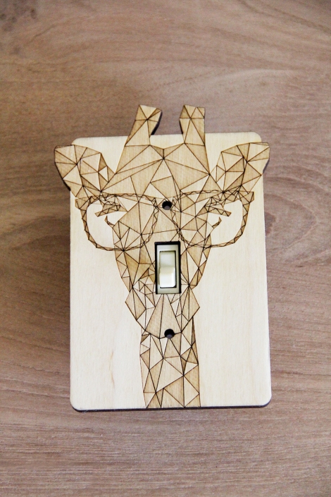 giraffe print light switch plate
